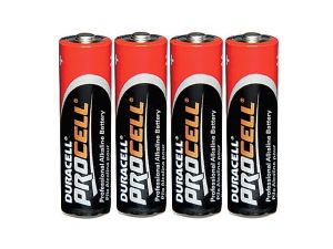 4 piles alcalines AA LR6 Duracell Procell