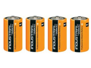 4 piles alcalines D LR20 Duracell Industrial