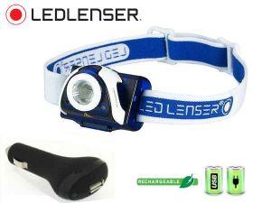 Pack Trail Ledlenser SEO 7R + chargeur voiture USB