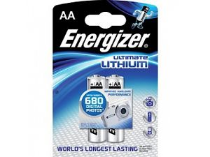 Pack 2 piles lithium AA LR6 Energizer Ultimate