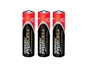 3 piles alcalines AAA LR03 Duracell Procell