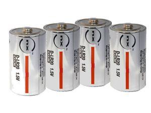 4 piles alcalines LR20 type D NX