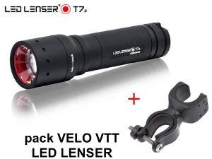 Pack Vélo/VTT lampe torche Ledlenser T7.2