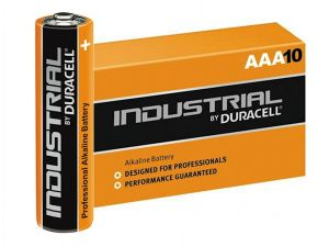 10 piles alcalines AAA LR03 Duracell Industrial