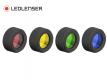 Lot de 4 filtres Ledlenser pour P6R/P7R Signature ou Core rouge/jaune/vert et bleu