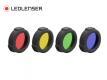 Lot de 4 filtres couleurs 47 mm Ledlenser H15R Core/Work